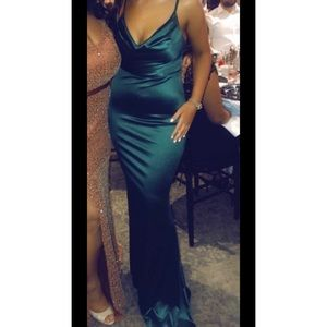 Satin fitted dress